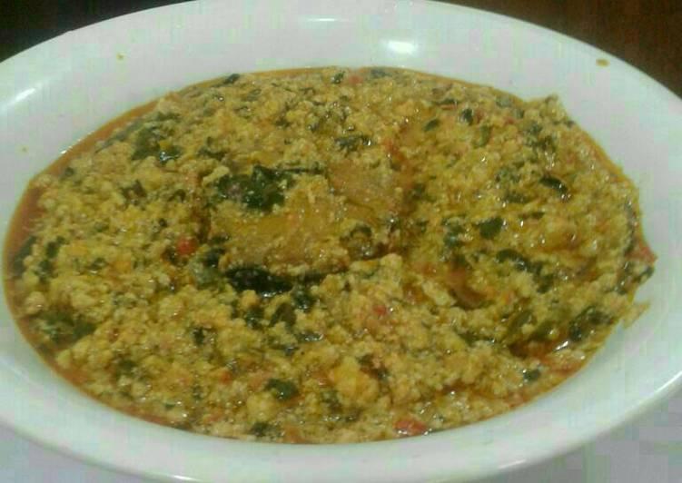 Recipe of Super Quick Homemade Fried fish egusi soup