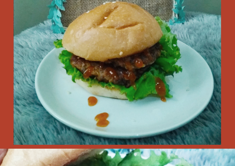 Patty burger daging sapi