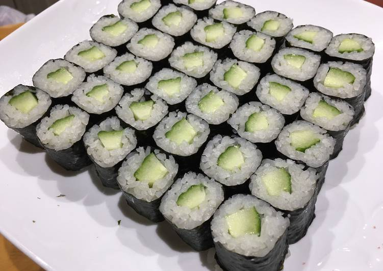 Recipe: Yummy How to make cucumber roll at your home