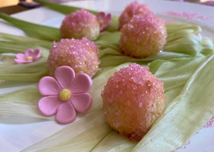 Ricetta Biscottini al cocco in rosa