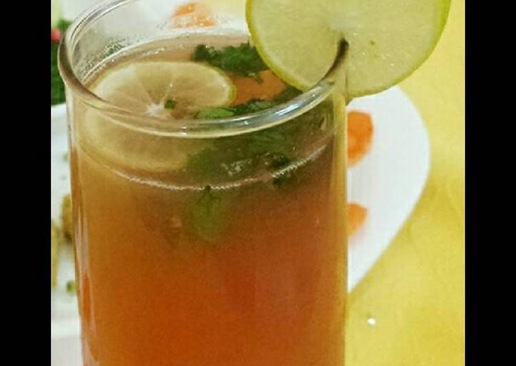 Simple Way to Make Super Quick Homemade Pomegranate Green Tea Passion