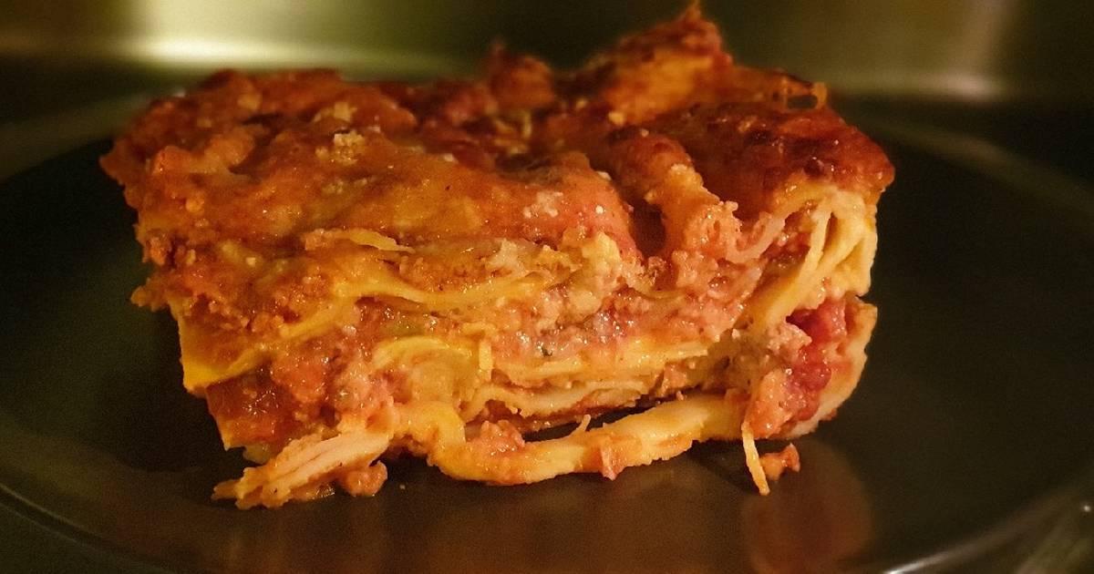 Ricetta X Lasagne Fatte In Casa.Ricetta Lasagne Di Farro Fatte In Casa Senza Uova Di Anna Vella Cookpad