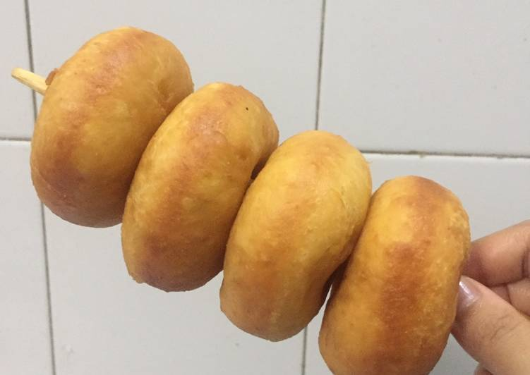 Donat kentang montok tanpa mixer