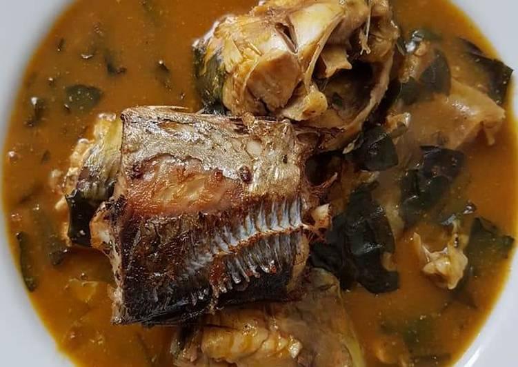 Oha soup with smoked fish