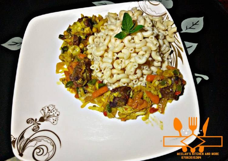 Steps to Prepare Ultimate Macaroni and vegetables sauces