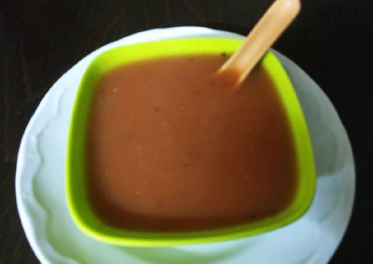 Recipe of Award-winning ટામેટા સૂપ (Tomato soup)