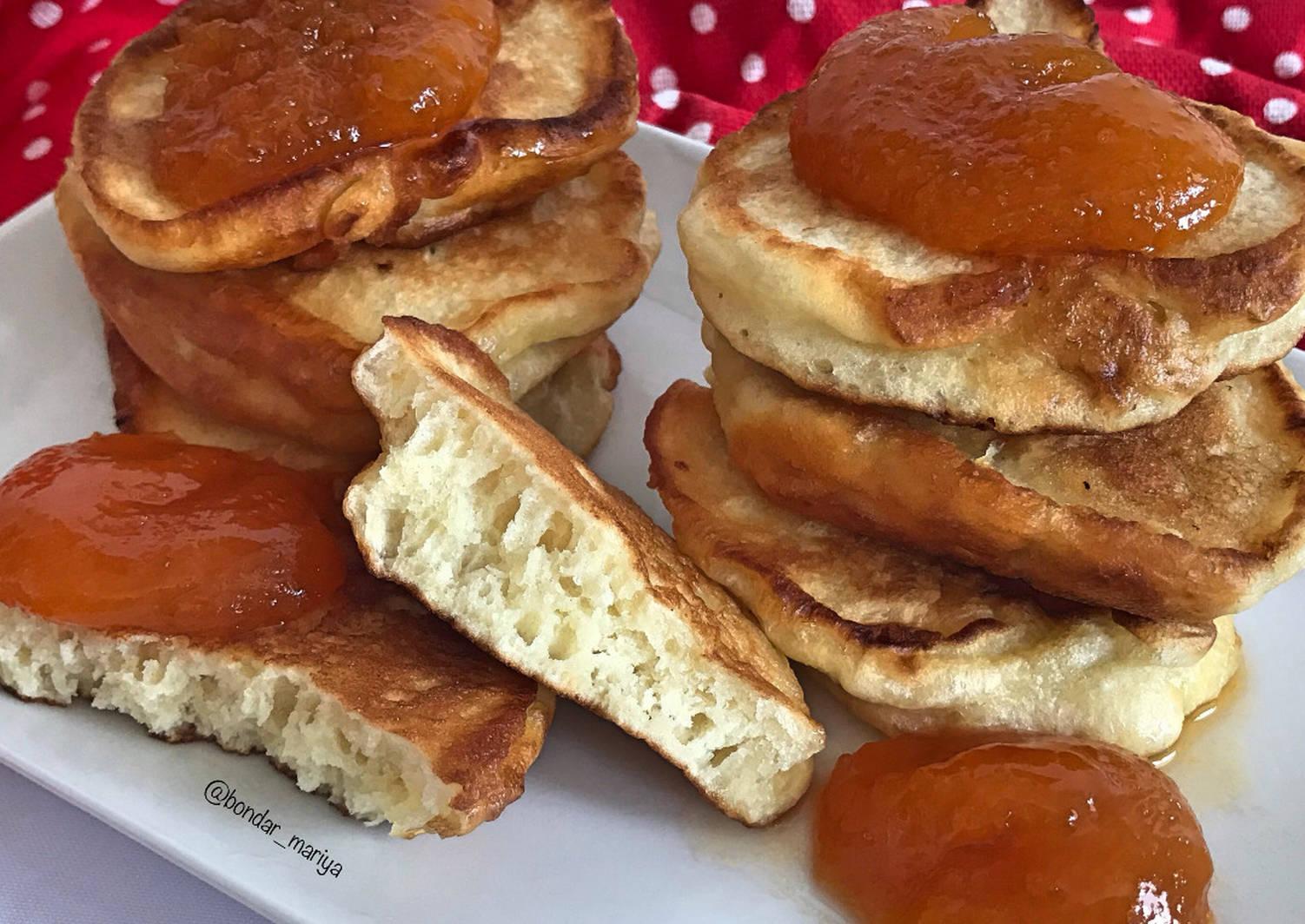 Рецепты оладушки на кефире фото популярный