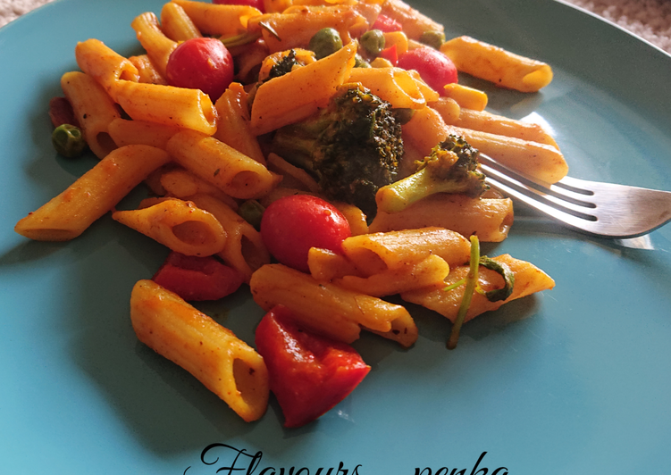 Easiest Way to Make Tasty Desi Penne pasta