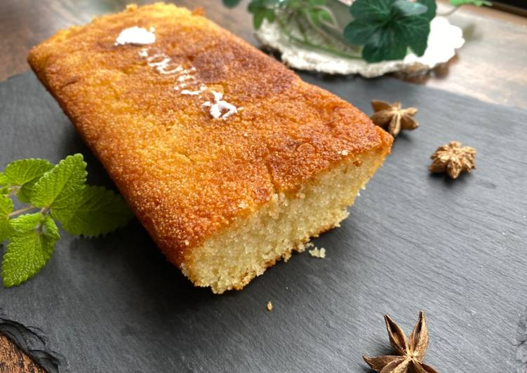 Semolina Cake with Maple Syrup
