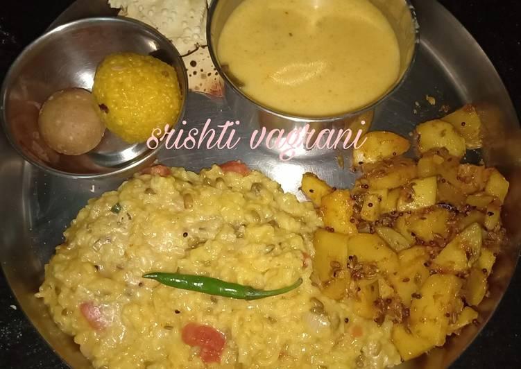 Kadhi kichdi with Achari aloo Finding Nutritious Fast Food