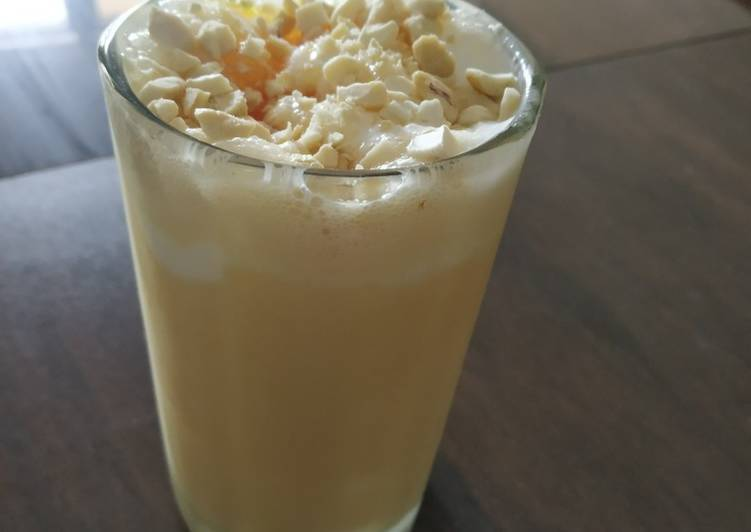Butter scotch milk shake