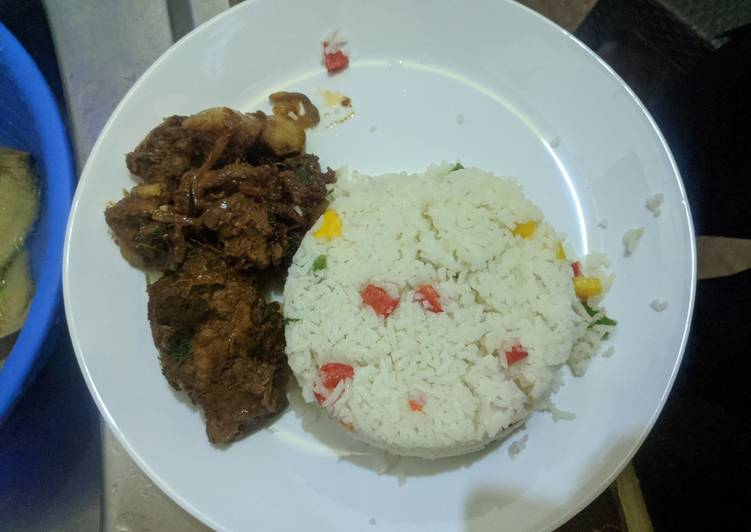 Vegetable rice and beef stew. #recreated dish