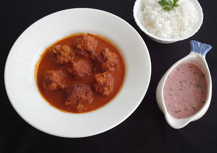 Prawns kofta curry Choosing Healthy and balanced Fast Food