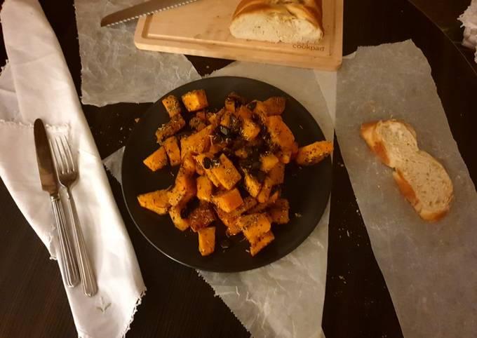 Zucca al forno con aromi