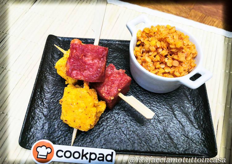Recipe: Yummy Spiedini di Cotechino e Polenta