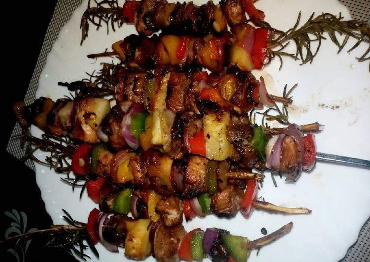 Chicken kebab barbeque#aurthors marathon