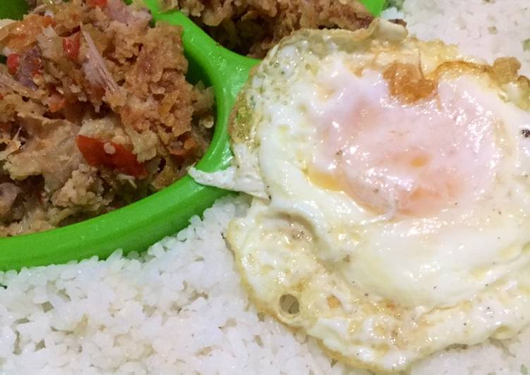 Ayam geprek sambal bawang & Telor ceplok setengah matang 🍳🐓