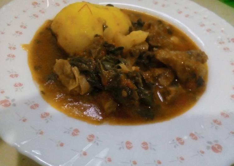 Tumbukiza beef stew