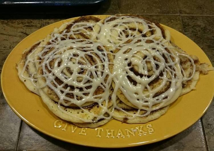 Simple Way to Make Homemade Cinnamon Roll Pancakes