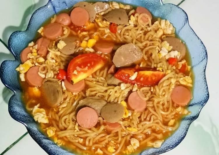 Resep Indomie goreng nyemek Favorit