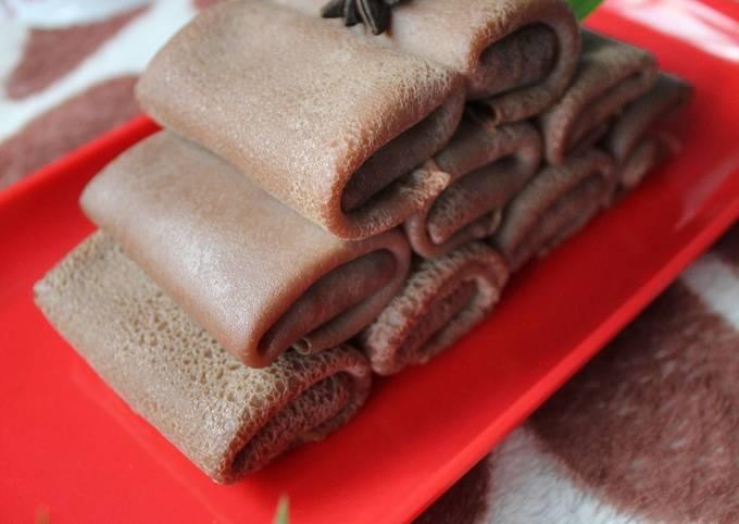 Cara Memasak Dadar Gulung Coklat Isi Meses Anti Gagal