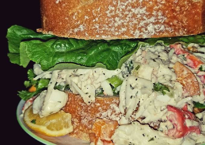 Mike's Chilly King Crab Lump Meat Salad Sandwiches