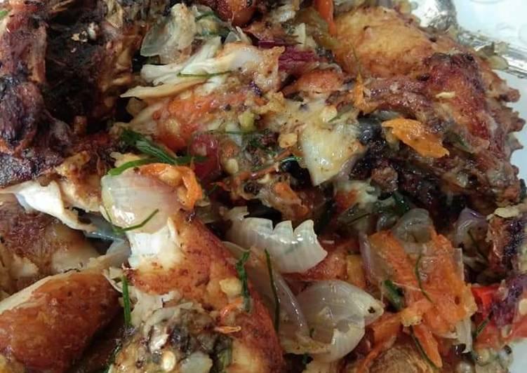Resep Ayam goreng sambel daun jeruk Anti Gagal