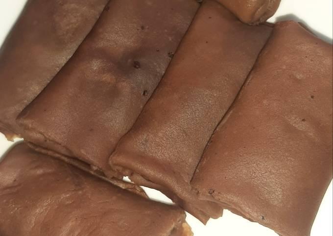 Resep Dadar Gulung Coklat Isi Vla Anti Gagal