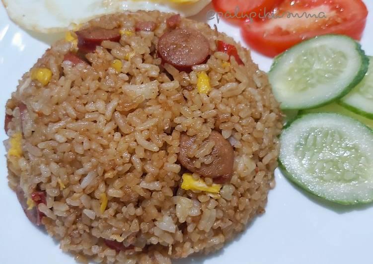 Nasi Goreng Telur Sosis