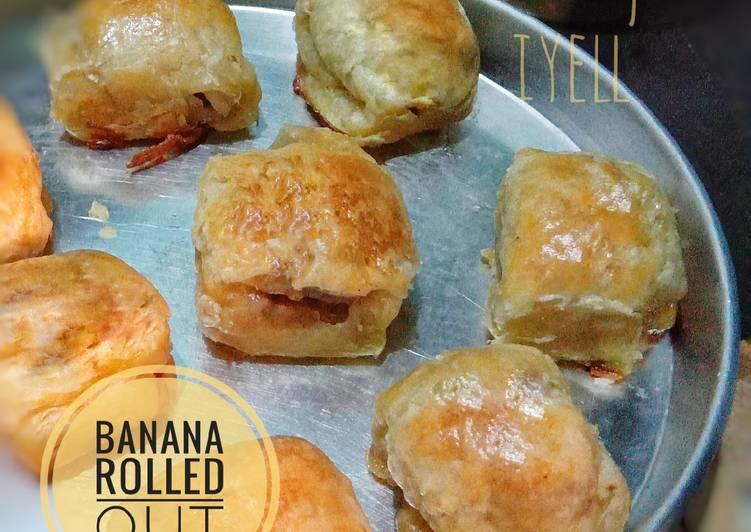 Banana rolled out alias pisang molen