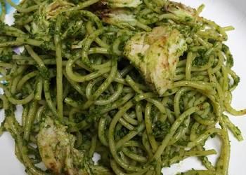 How to Recipe Perfect Green Pesto Spaghetti