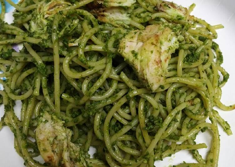 Recipe of Ultimate Green Pesto Spaghetti