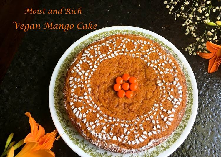 Super Moist Vegan Mango Cake