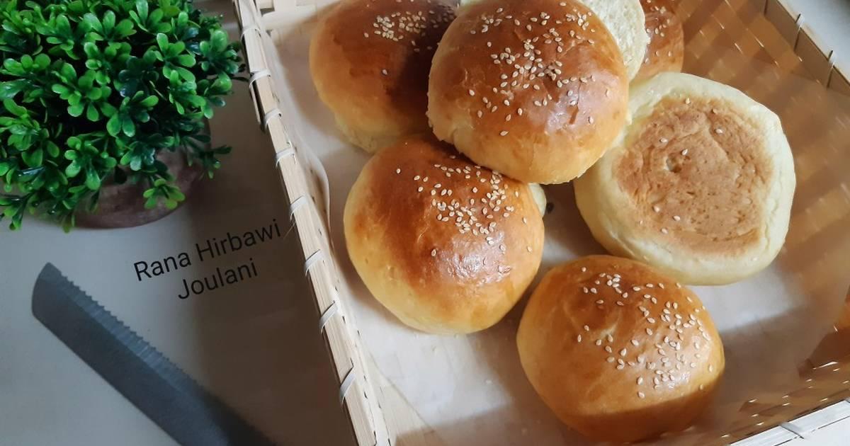 خبز البرجر المنزلي الطري الهش بالصور من Rana Hirbawi - كوكباد