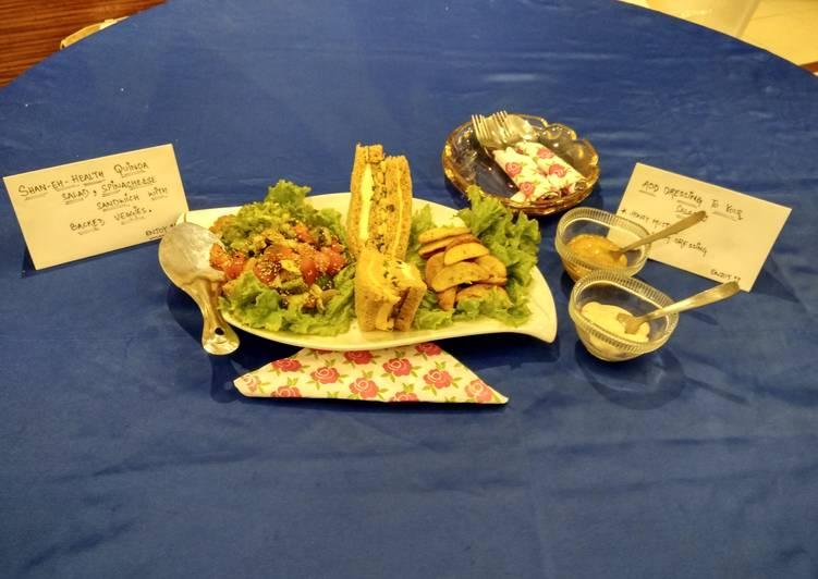 Shan-e-Health Quinoa Salad and Tripe Layered Sandwich