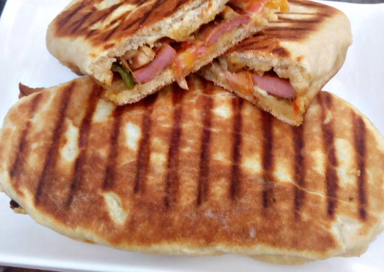 Recipe of Super Quick Homemade Grilled chicken panini sandwich