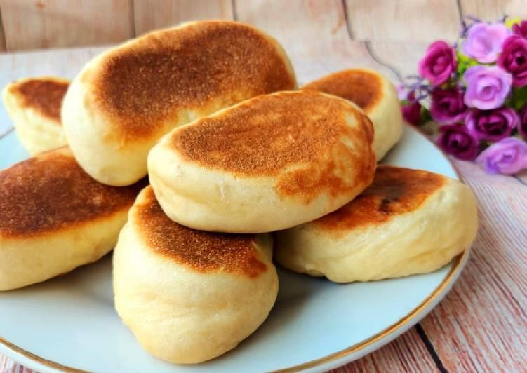 Roti Teflon Tanpa Ulen, Tanpa Oven, Takaran Sendok & Anti Ribet