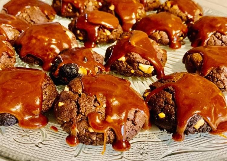 Cookies chocolat caramel beurre salé