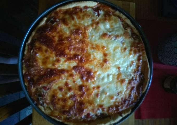 Deep Dish Sausage And Pepperoni Pizza