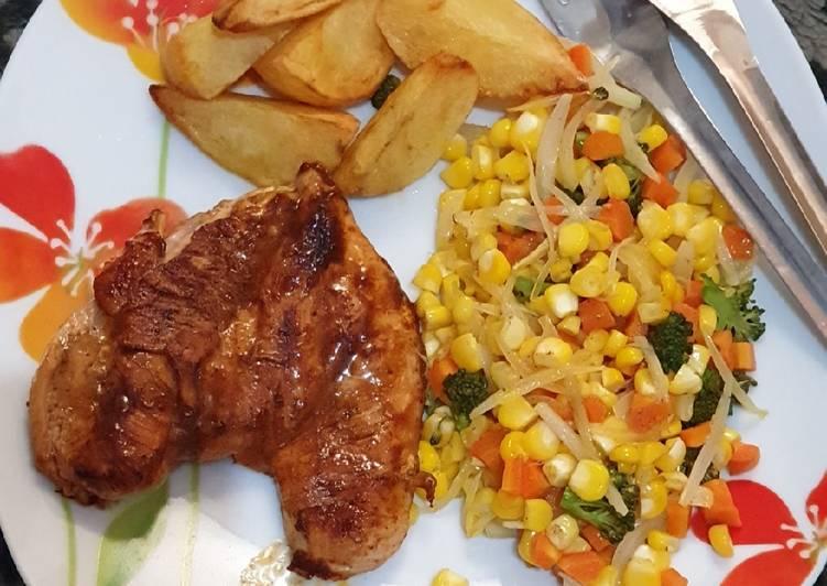 Steak Ayam simple