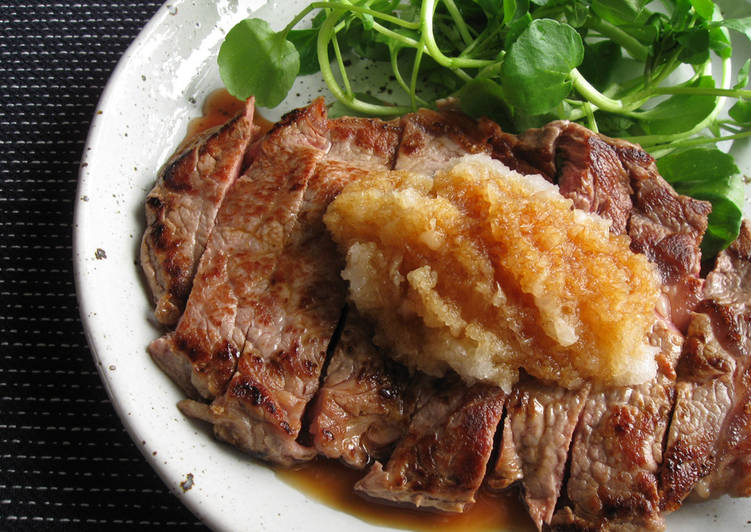 Beef Steak With Grated Daikon & Ponzu - Laurie G Edwards