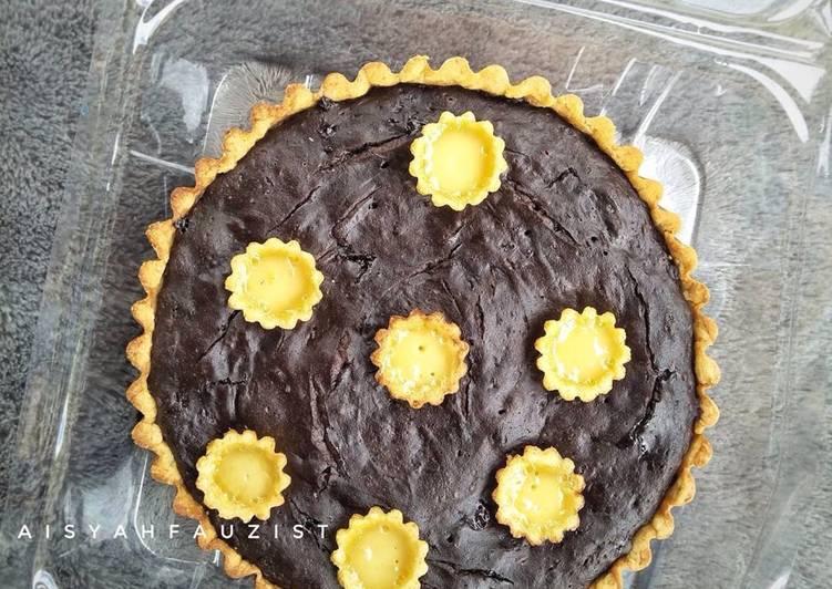 Resep Pie brownies + pie susu kecil teflon Terbaik