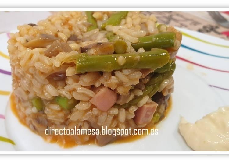 receta de arroz con esparragos al horno