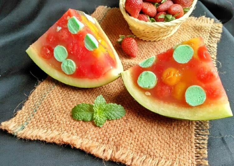Puding buah semangka