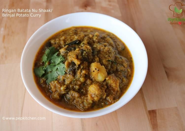 Ringan Batata Nu Shaak/Brinjal Potato Curry