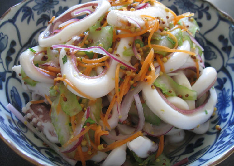 Step-by-Step Guide to Prepare Homemade Marinated Squid Salad