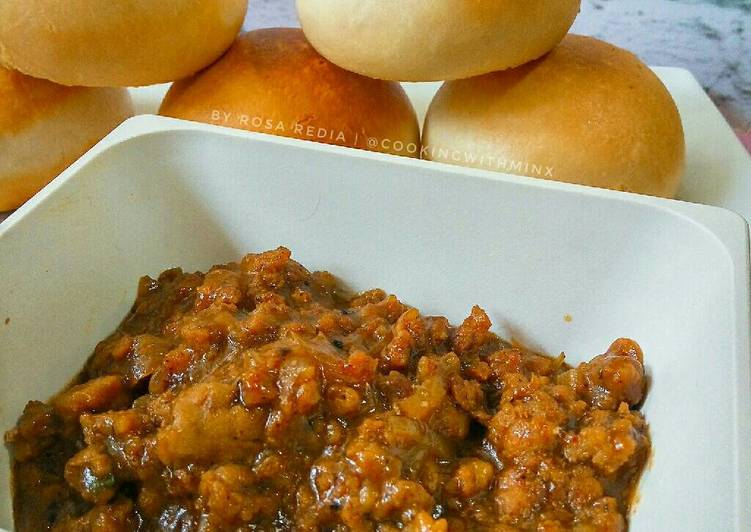 Resep Sticky Daging Cincang 😋 (Isi Bakpao, Mantau, Roti) Paling Joss