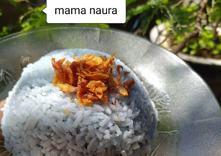(13). Nasi Uduk Bunga Telang - cookandrecipe.com