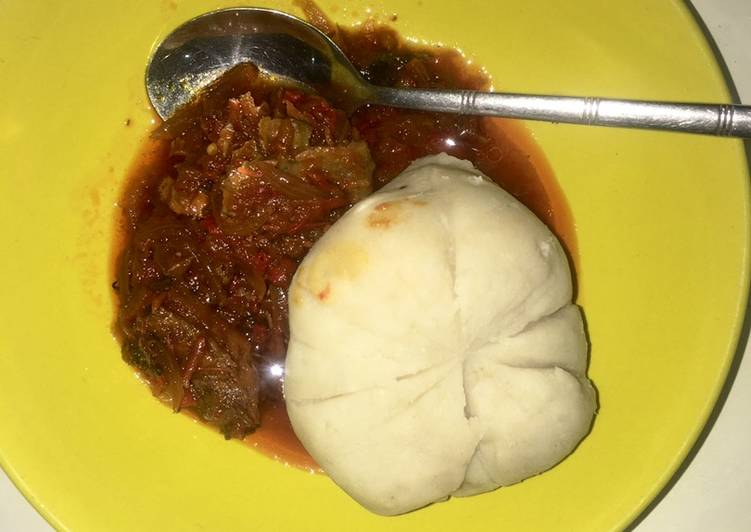 Easiest Way to Prepare Award-winning Pounded yam & stew🍛