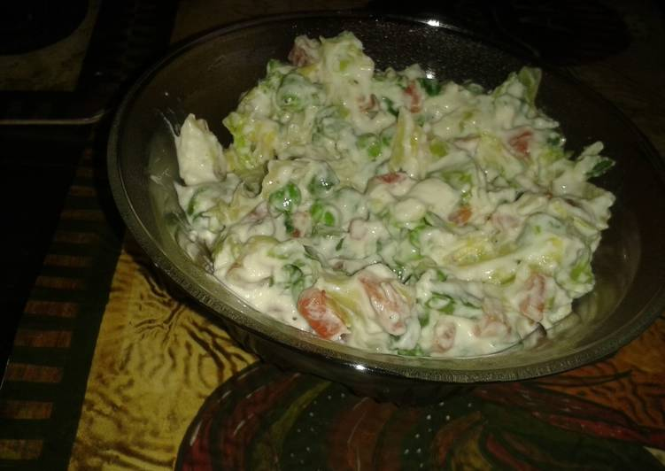 Old Fashioned Dinner Easy Winter Russian salad